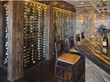 A glass-fronted wine cellar at Jimmy's Restaurant in Lake Tahoe, Calif., displays its Wine Spectator Award-winning wine selections of more than 2,000 bottles.
