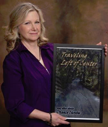 "Nancy Christie, author of ""Traveling Left of Center and Other Stories"" and ""Gifts of Change."""