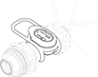 VeloComputer 9-axis Smart Sensor on a wheel hub
