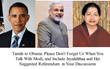 Tamils to Obama: Please Don't Forget Us When You Talk With Modi, and Include Jayalalithaa and Her Suggested Referendum  in Your Discussions