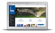 The new LouisvilleWater.com website displayed on a laptop.