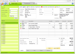 An example inFlow Inventory sales order.