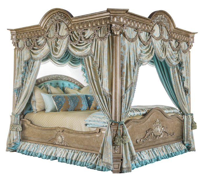 $100,000 De Medici Canopy BedHandcrafted Four Poster Bed Created By Phyllis  Morris In Los Angeles ...