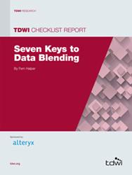 image of the 2014 TDWI Checklist Report: Seven Keys to Data Blending