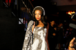 Model Walks Runway  with Dom Streater-designed Velodyne headphone skins