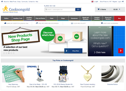 Cooksongold's New Website