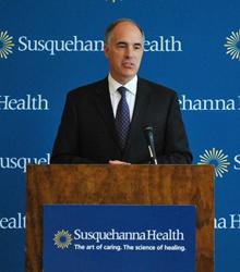 Senator Casey speaks at Susquehanna Health's Williamsport Regional Medical Center