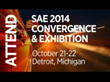 Journalists Invited to Attend the SAE International 2014 Convergence in Detroit