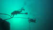 Captain Mayne dives on the wreck site - Photo by Michael McCabe and Aqua Quest Films