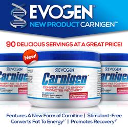 New Carnigen™ Elite Energy & Recovery Catalyst from Evogen Nutrition