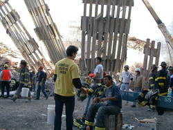 Scientology Volunteer Ministers provided physical and spiritual help to the rescue workers at Ground Zero who worked around the clock after the terror attack.