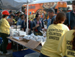 The Volunteer Minister tent at Ground Zero, where rescue workers came for meals, companionship, and Scientology disaster relief techniques to help them cope with the daunting rescue effort.