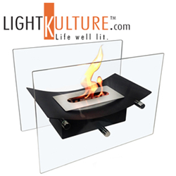 Moda Flame Bio-ethanol fireplaces new models available at LightKulture.com