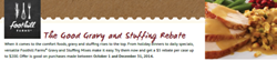 Foothill Farms Gravy and Stuffing Operator Rebate 2014