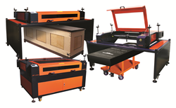The z-table can be removed, large and heavy objects can be placed under the laser machine.