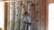 USA Installation installer works inside Haworth home.