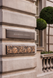 Sculpted Brass Entrance Signage Rosewood London