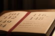 Hand-crafted leather bound books Environmental Signage Rosewood London