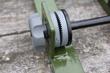 A clutch locks in field elevation settings