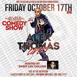 Comedian Alex Thomas will be at Silverton Casino on Friday, October 18, 2014