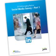 Jaffe co-authors 2014 Managing Partner Social Media Survey.