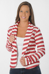This Alabama Crimson Tide Striped Fleece Blazer can be dressed up or down, making it a wardrobe essential!