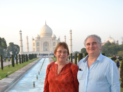 Its been hard work but very rewarding - Alan & Sue Visit Tak Mahal during their business trip to India