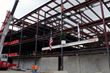 The final beam of the world's first virtual care center begins its ascent.