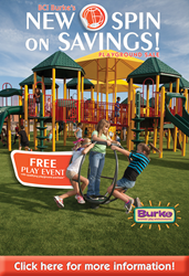 Spin on Savings Playground Sale