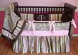 Kelley Paisley Pink, Brown, & Green Crib Bedding - $298.00 : Boy Baby Bedding Crib Sets, Custom Girl Baby Bedding