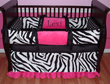 Lexi Zebra Pink, Black and White Girl Baby Bedding - $299.00 : Boy Baby Bedding Crib Sets, Custom Girl Baby Bedding