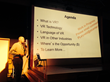 Technologist/Consultant Phil Lelyveld talks about VR (Virtual Reality) at the Sept. 14th Vizual>NOW gathering