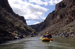 Rafting through the Rio Grande gorge