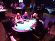 Poker table with pin spot lighting