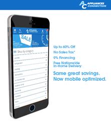 Appliances Connection New Optimized Mobile Site