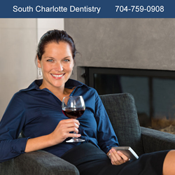 Charlotte Dentist says wine and coffee good for teeth.