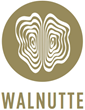 The official logo of Walnutte, luxury scarves to inspire your imagination and nourish your spirit