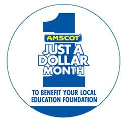 Amscot Just A Dollar Campaign Logo