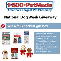 1-800-PetMeds giveaway for National Dog Week
