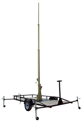 30' Telescoping Light Mast Equipped with Two Electric Winches for Operation