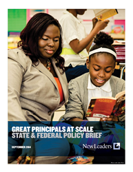 Great Principals at Scale: State and Federal Policy Brief