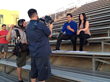 Hosts Will Rubio and Brianna Baxter during filming of the Own It! course in Los Angeles.