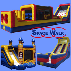 Space Walk redesigned slides, obstacle courses, bounce houses durability and safety