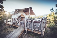 This luxury tent in California can be found near San Diego. www.glampinghub.com