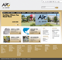 A.J. Oster Metals Service Center Website