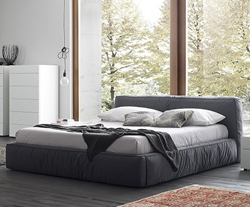 Twist Dark Grey King Sized Bed T411601375G97 from Rossetto