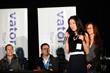 Nanxi Liu founder of Enplug accepts award at Splash Oakland 2014