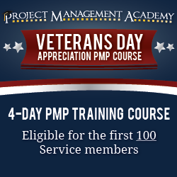Veteran's Day Appreciation PMP Course