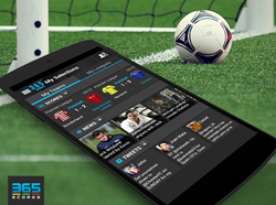365Scores mobile application for worldwide sports