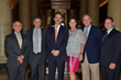 Distinguished leaders/mentors in field of brain aneurysms pictured with Christine J. Buckley, BAF ED are Robert H. Rosenwasser, MD, David J. Chalif, MD, Jacques Morcos, MD, Roberto C. Heros, MD